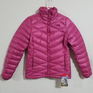 NEW North Face Womens XS Pink Puffer Jacket Coat